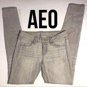 AEO Super Stretch Jegging skinny jeans lt. grey 2